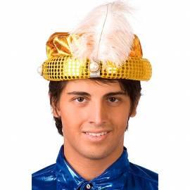 Chapeau oriental doré pour adulte