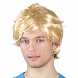 Perruque blonde courte pour homme