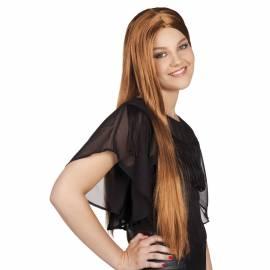 Perruque blond vénitien longue