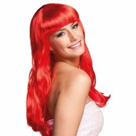 Perruque rouge longue