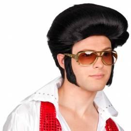 Perruque homme noire année disco