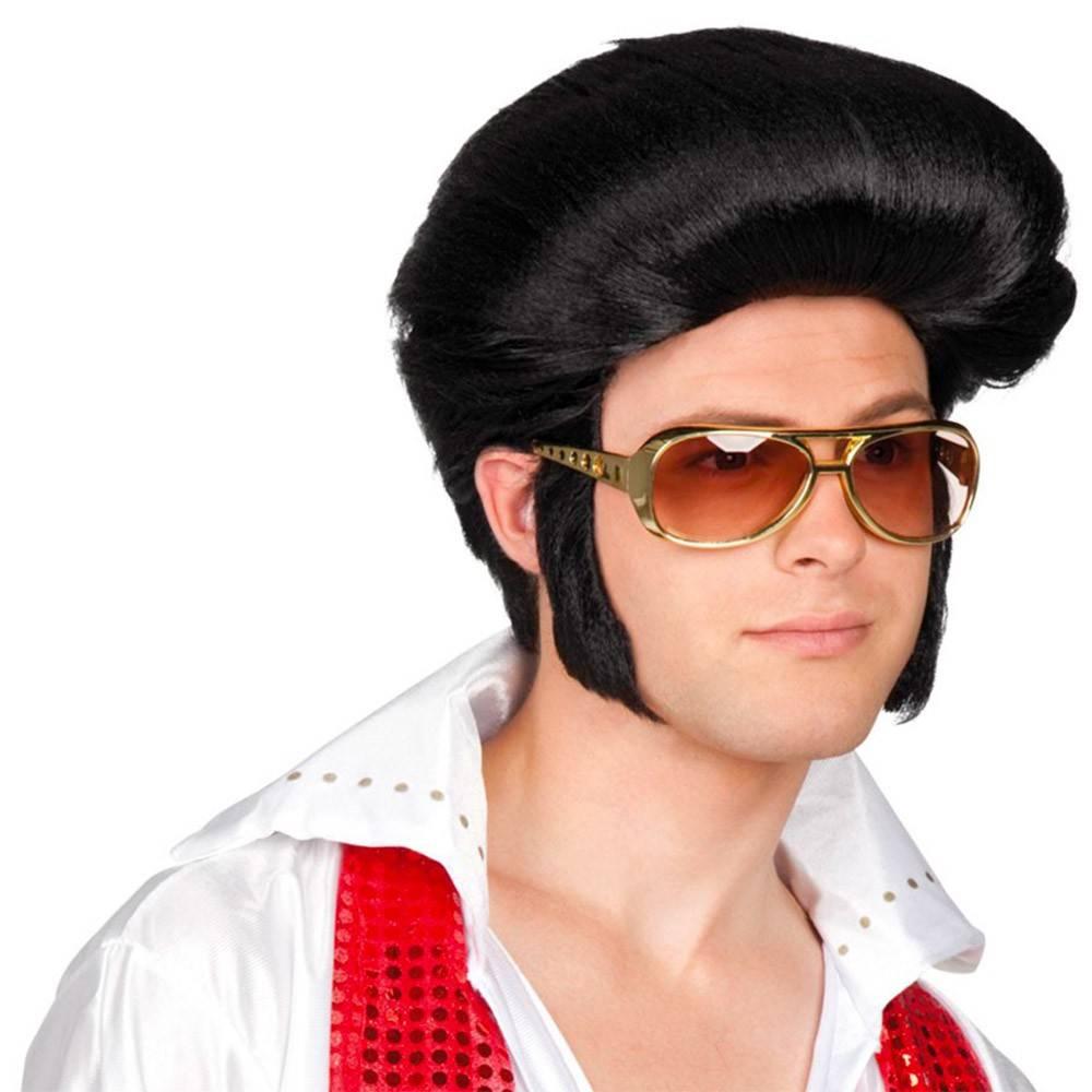 32564063e0 Perruque noire Elvis