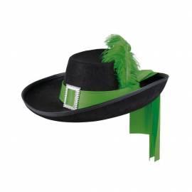 Chapeau de mousquetaire avec ruban et plume