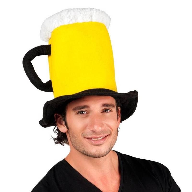 chapeau en forme de chope de bière adulte