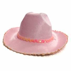 Chapeau de cow-girl de couleur avec paillettes