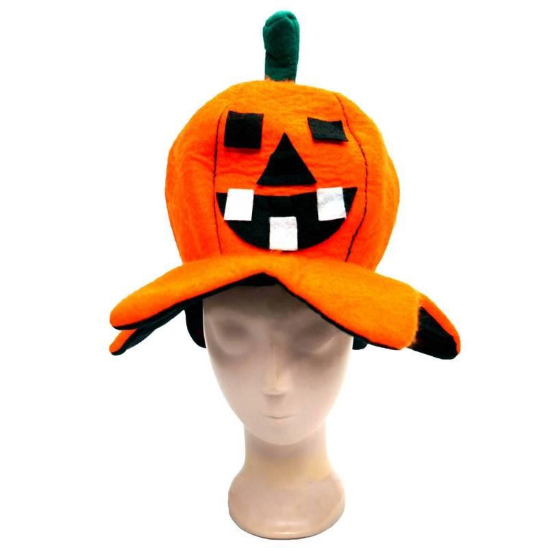 chapeau d'halloween en forme de citrouille pour adulte