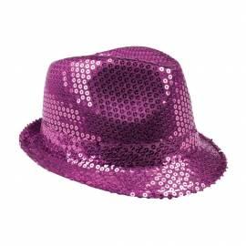 Chapeau Popstar sequins de couleur violet