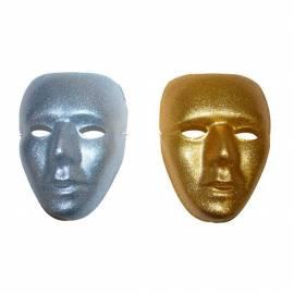Masque rigide pailleté or ou argent