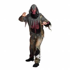 Deguisement squelette rouge mort-vivant