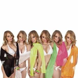 Foulard de couleur, semi-transparent avec des traits plus opaques