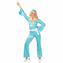 Tenue disco femme turquoise