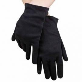 Gants en polyester noirs ou blancs