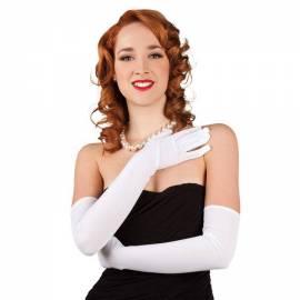 Longs gants blancs (60 cm)