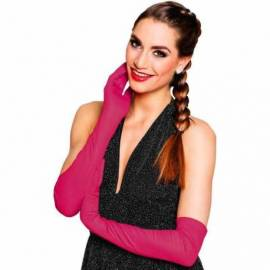 Longs gants (60 cm) en polyester, de couleur