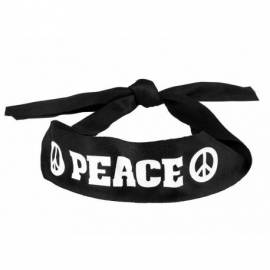 """Pack hippie (bandeau + lunettes rondes + pendentif """"Peace and love"""")"""