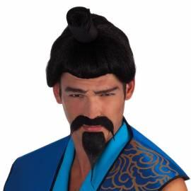 Moustache et barbiche de samouraï