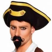 Moustache et barbiche de capitaine