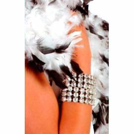 Bracelet en faux diamants sur 3 rangées