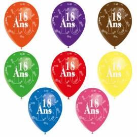 3 ballons de couleur pour le jubilé des 18, 20, 25, ... ou 70 ans