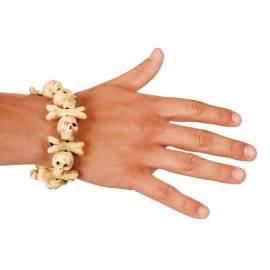Bracelet de pirate avec des os et des petites têtes de mort