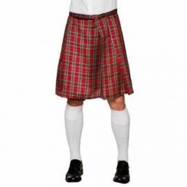 Kilt motif écossais rouge ou vert