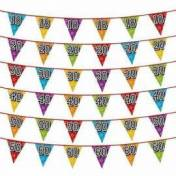 Guirlande de fanions triangulaires pour les 18, 20, 30, ... ou 60 ans