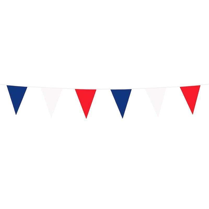Guirlande à fanions triangulaires bleu blanc rouge