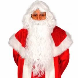Perruque Pere Noel avec barbe longue