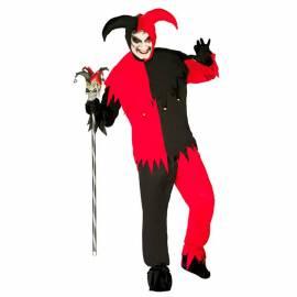 Costume de joker noir et rouge pour homme ou femme