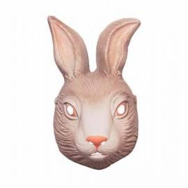 Masque en plastique de lapin gris, de lièvre