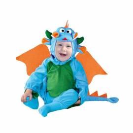 Déguisement de dragon bleu pour enfant de 1 à 2 ans