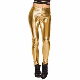 Pantalon leggings brillants de couleur