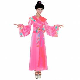 Deguisement geisha rose adulte