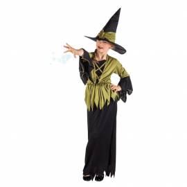 Deguisement enfant de sorcière noir et blanc
