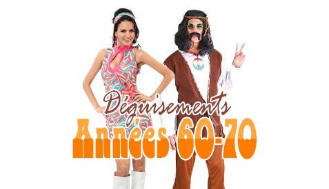 Deguisements hippies annees 60 70